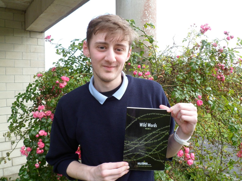 Scott pictured with the book Wild Words.