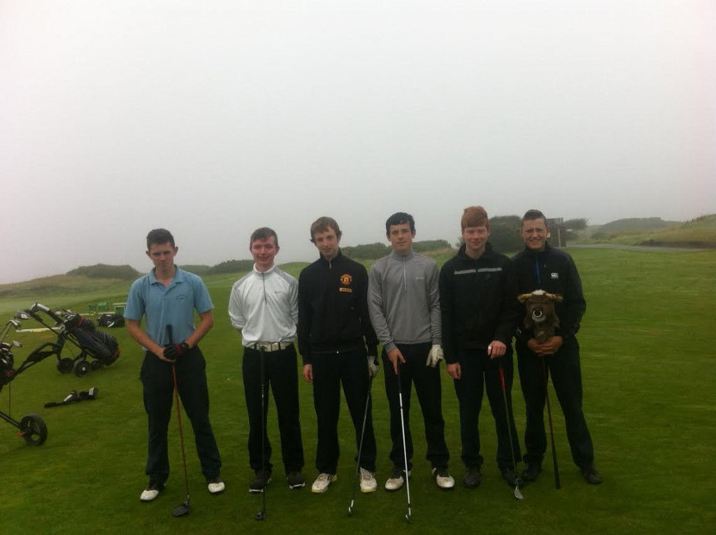 Ready to tee off for DCS today, Adam Canny, Steven Lane Spellman, Conor Finn, Padraic Costello, Michael Burke & Brian Maloney