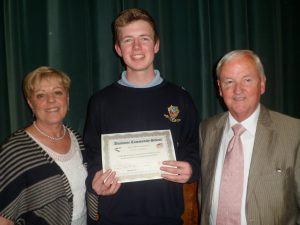 A one year Full Attendance Award was presented to Niall Sheehy
