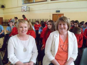 Joan Burke and Helena Ryan, both members of the Parents Council attended the awards ceremony in Dunmore Community School